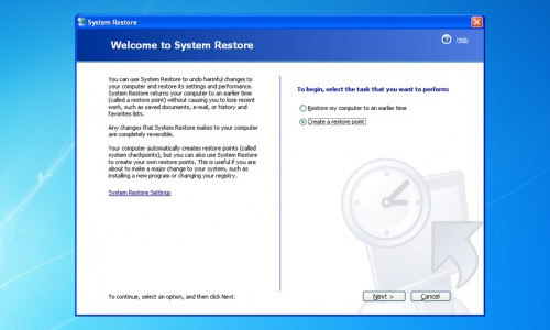 System Restore